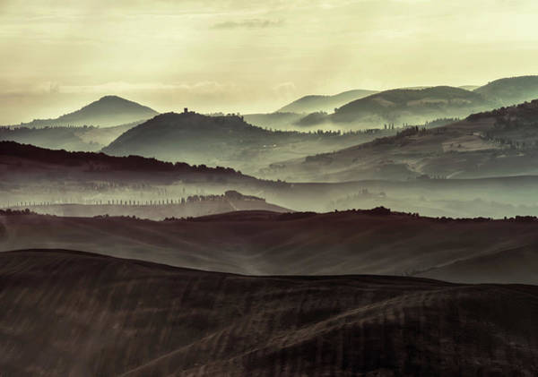Photograph - Foggy Early Morning In Toscany by Jaroslaw Blaminsky