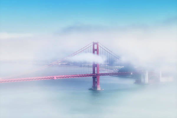 Wall Art - Photograph - Foggy Golden Gate Bridge  by Melanie Viola