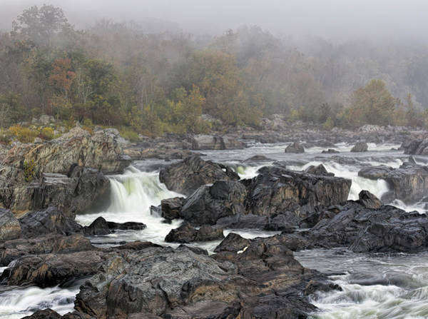 Goat Rocks Wilderness Photograph - Foggy Great Falls by Francis Sullivan
