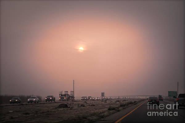 Wall Art - Photograph - Foggy Hi Way I - 5 Bakersfield California  by Chuck Kuhn