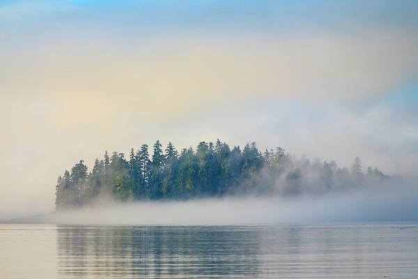 Wall Art - Photograph - Foggy Islands With Spruce Trees by Stuart Westmorland