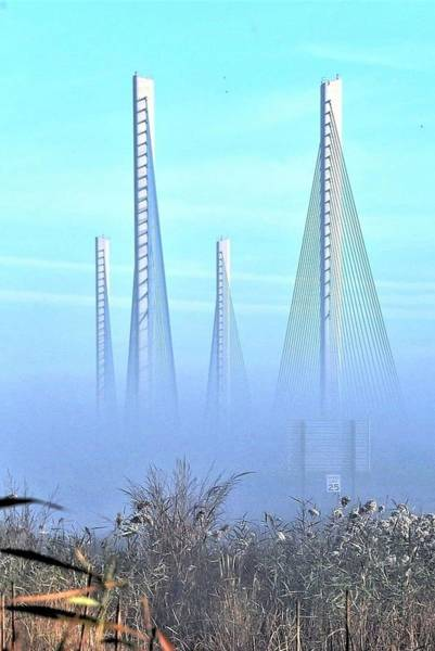 Photograph - Foggy Morning At The Indian River Inlet Bridge by Kim Bemis