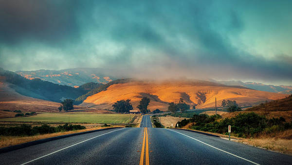 Wall Art - Photograph - Foggy Morning On Route 46 - California by Mountain Dreams