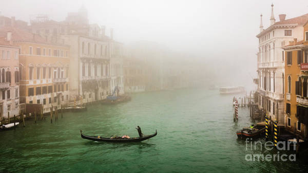 Photograph - Foggy Morning On The Grand Canale, Venezia, Italy by Lyl Dil Creations