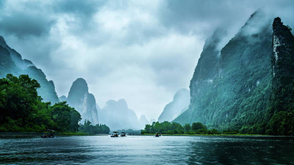Digital Art - Foggy Morning On The Li River  by Kevin McClish