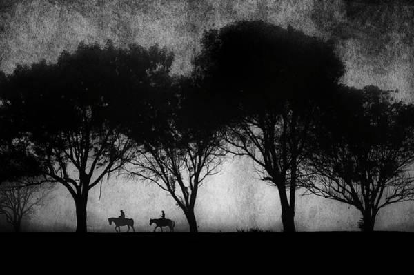 Photograph - Foggy Morning Ride by John Rodrigues