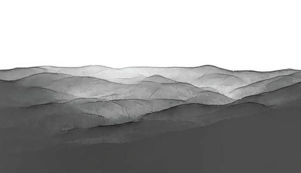 Photograph - Foggy Mountains Minimalist by Andrea Anderegg