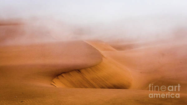 Photograph - Foggy Namib Desert by Lyl Dil Creations