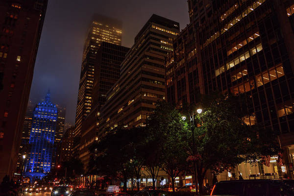 Photograph - Foggy Night On Park Avenue by Lance Vaughn