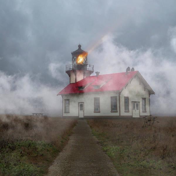 Cabrillo Photograph - Foggy Point Cabrillo Lighthouse California by Betsy Knapp