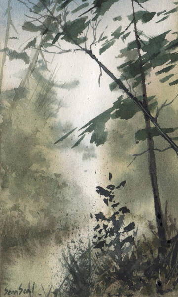Wall Art - Painting - Foggy River by Sean Seal