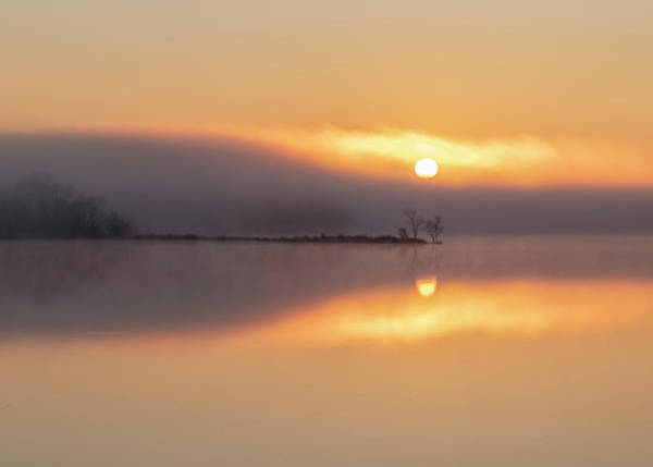 Photograph - Foggy Sunrise Reflection by Patti Deters