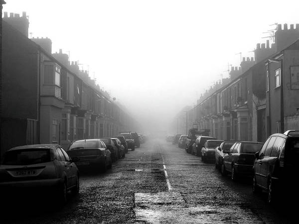 Stationary Photograph - Foggy Terrace by Paul Downing