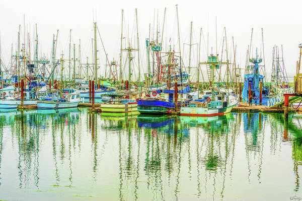Photograph - Foggy Wet Harbor by Dee Browning
