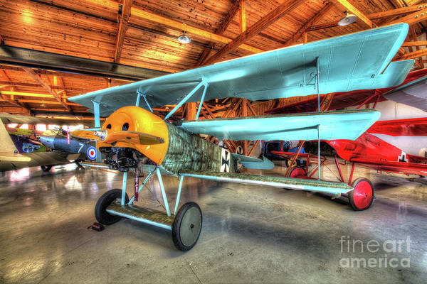 Bleriot Photograph - Fokker Dr-1 Rotary Engine Triplane by Greg Hager