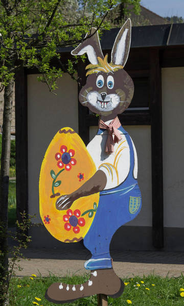 Wall Art - Photograph - Folk Art Easter Bunny by Teresa Mucha