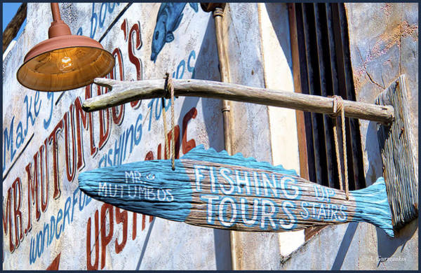 Photograph - Folk Art Sign, Fishing Tours by A Gurmankin