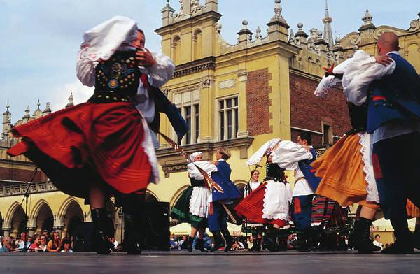 Wall Art - Photograph - Folk Dancers In Old Market Square by Krzysztof Dydynski