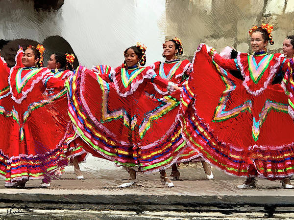 Wall Art - Photograph - Folklorico Dancers by GW Mireles