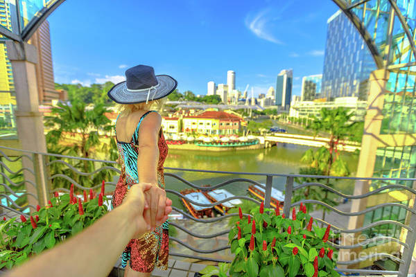 Photograph - Follow Me In Singapore by Benny Marty