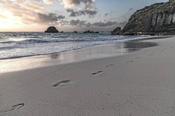 Wall Art - Photograph - Follow Me Thoughtful Coastal Sunrise by Betsy Knapp