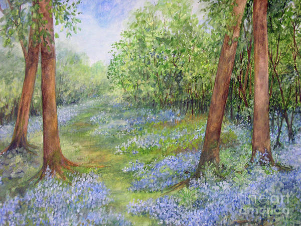 Painting - Follow The Bluebells by Laurie Rohner