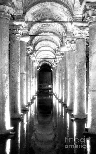 Basilica Cistern Photograph - Follow The Lights At The Basilica Cistern Istanbul by John Rizzuto