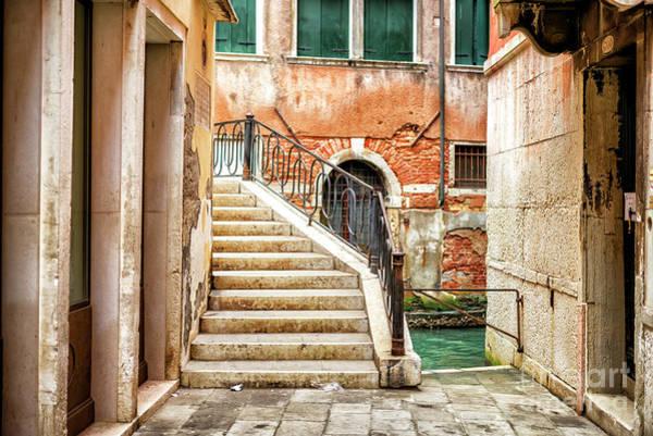 Photograph - Follow The Stairs In Venezia by John Rizzuto