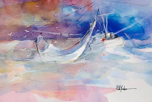 Shrimp Painting - Following Sea by Robert Yonke