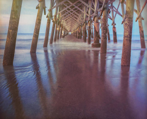 Under The Pier Photograph - Folly Beach Fishing Pier by Dan Sproul