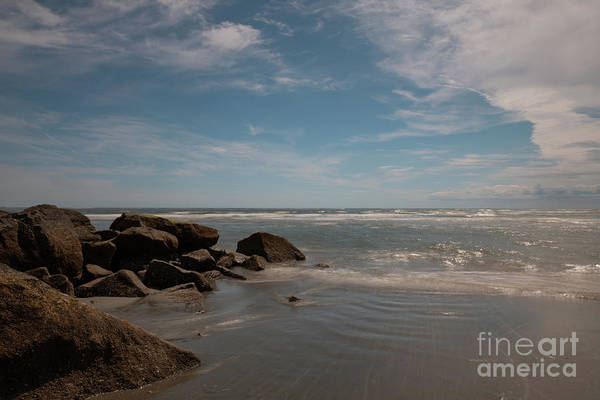Photograph - Folly Beach Rocky Shore by Dale Powell