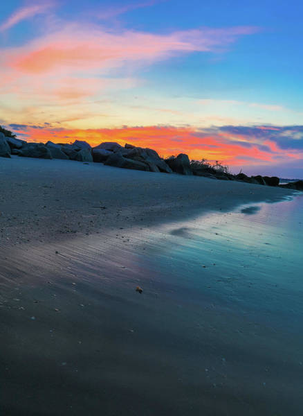 Photograph - Folly Beach Sunset Colors  by Dan Sproul