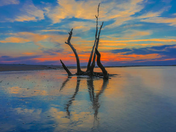 Photograph - Folly Beach Sunset Reflection by Dan Sproul