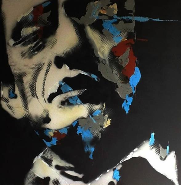 Wall Art - Painting - Folsom Blues _ Johnny Cash  by Paul Lovering