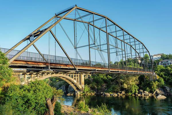 Photograph - Folsom Historic Truss And Rainbow Bridge by Jonathan Hansen