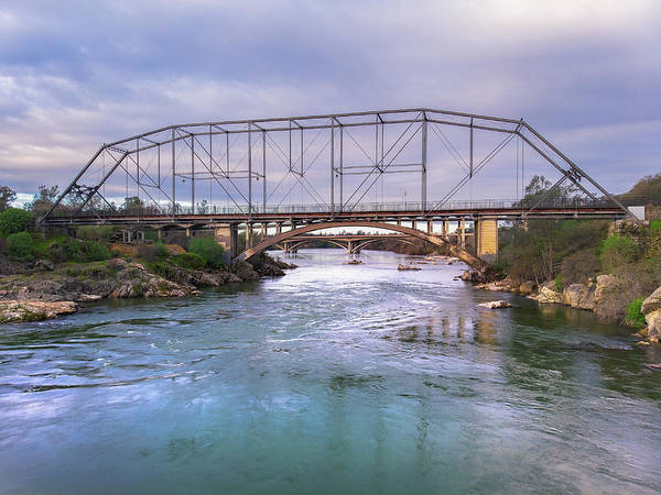 Photograph - Folsom Historic Truss Bridge by Jonathan Hansen