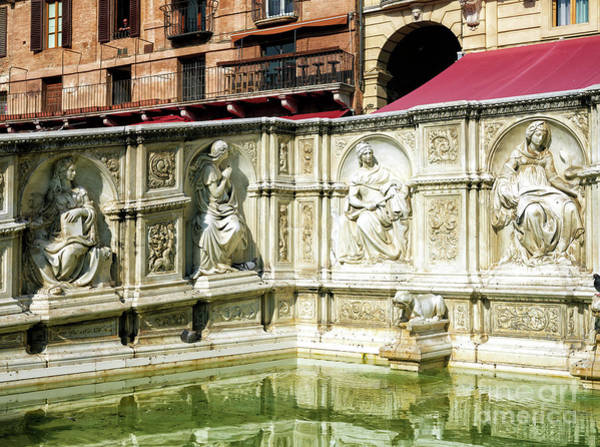Photograph - Fonte Gaia In Siena by John Rizzuto