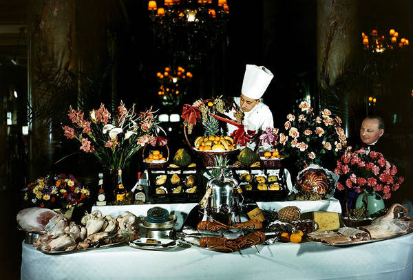 Carlton Hotel Photograph - Food. Catering. Pic 1947. The by Popperfoto