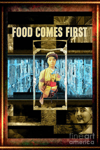 Food Comes First Art Print by John Groves