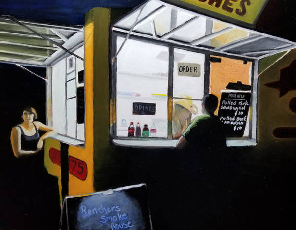 Bbq Painting - Food Truck Friday by Karyn Robinson
