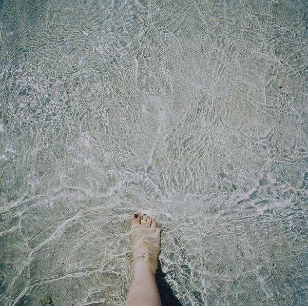 Photograph - Foot In Water by Silvia Otte