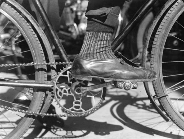 Business Cycles Wall Art - Photograph - Foot On Pedal by David Savill