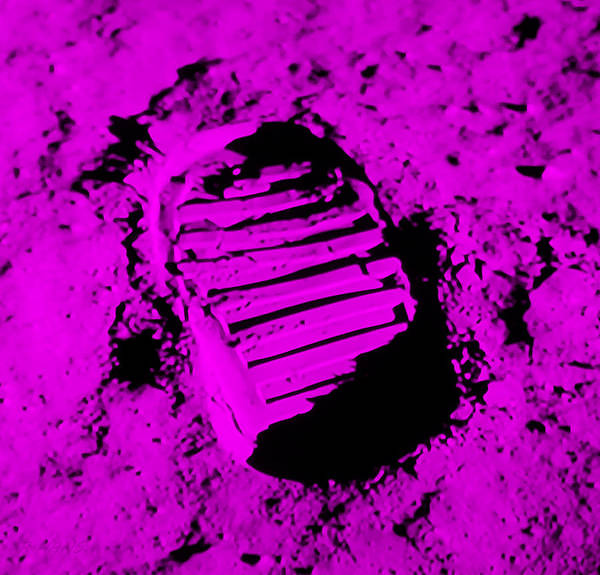 Photograph - Foot Print On The Moon In Purple by Rob Hans