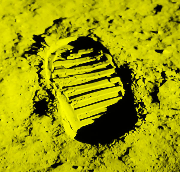 Photograph - Foot Print On The Moon In Yellow by Rob Hans