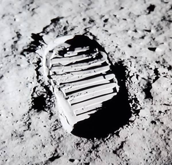 Photograph - Foot Print On The Moon by Rob Hans