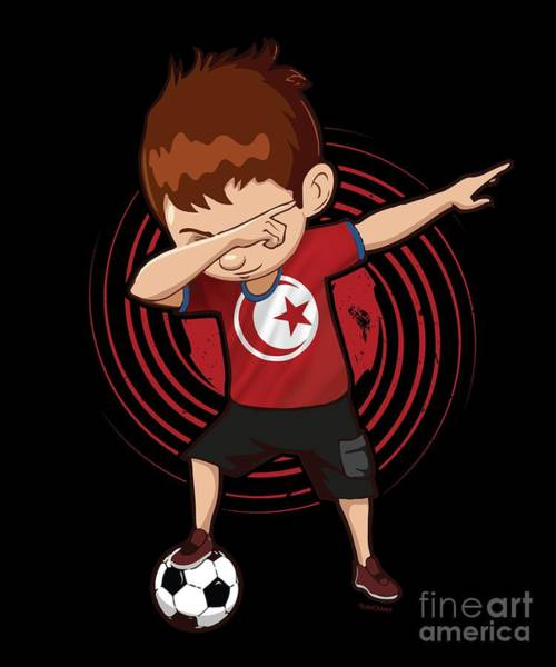 Tunisia Digital Art - Football Dab Tunisia Tunisian Footballer Dabbing Rugby Goal Soccer Gift by Thomas Larch