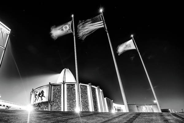 Photograph - Football Hall Of Fame - Canton Ohio Monochrome by Gregory Ballos
