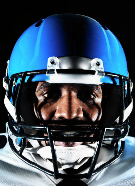 Football Helmet Photograph - Football Player by Henrik Sorensen