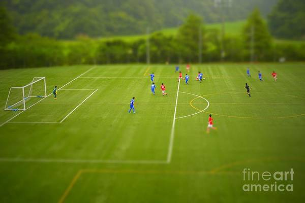 Wall Art - Photograph - Football Tilt-shift by Jppressmura