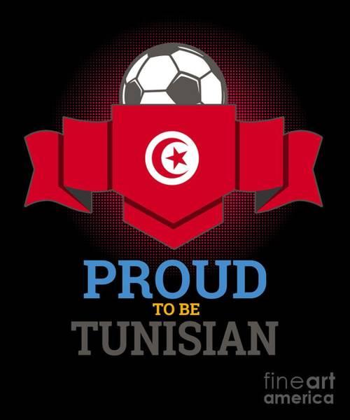 Tunisia Digital Art - Football Tunisia Tunisians Soccer Team Sports Footballer Goalie Rugby Gift by Thomas Larch